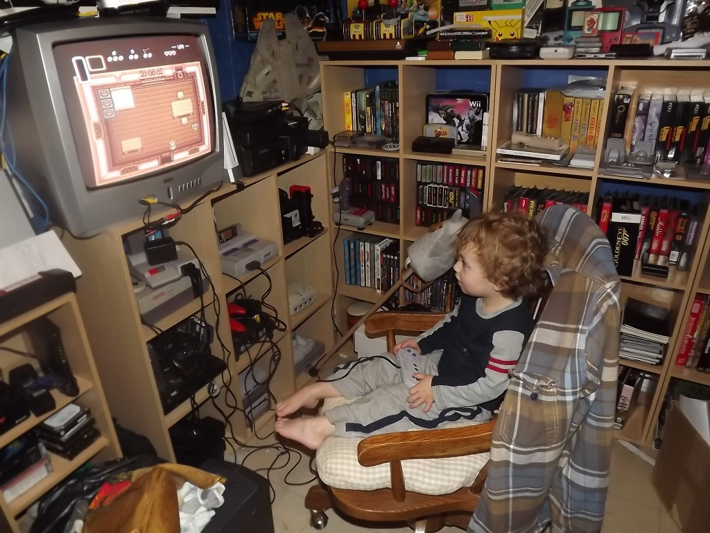 Little Wyatt playing LoZ:LttP