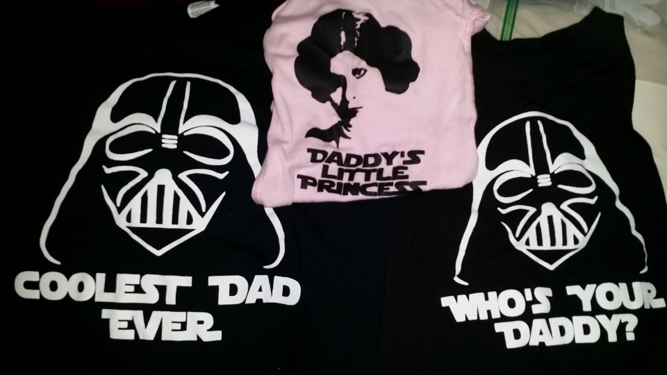 Our matching Father's Day shirts.