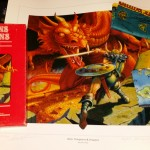 My print next to my red box with my autographed Ultima maps.